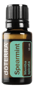 doTERRA Spearmint essential oil bottle png image on clear background