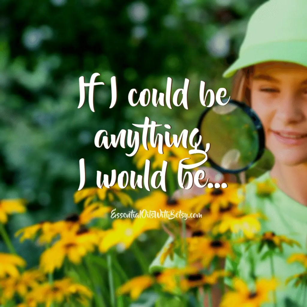 If I could be anything I would be... engagement graphic for social media