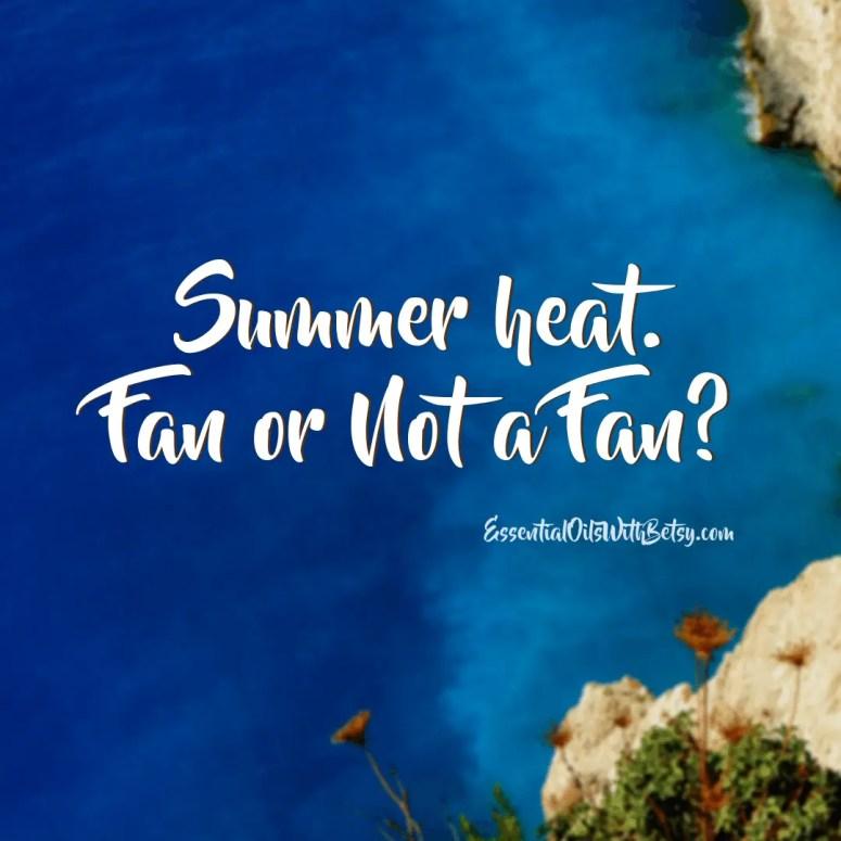 Summer heat. Fan or note a fan social media engagement graphic