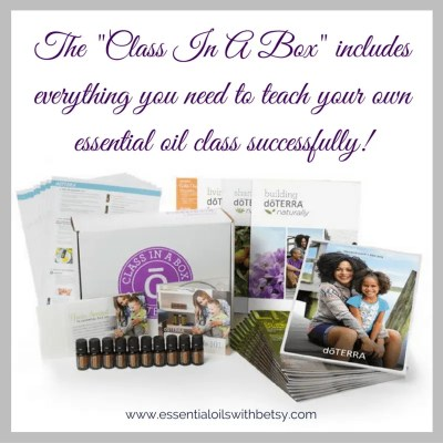 "What Materials Do I Need For My First Essential Oil Class? If your upline is teaching your first class for you, they will likely have their own materials. I provide all class materials for my local downline when teaching. However, if you don't have local upline available to teach your first essential oil class, you can still do this successfully! A great option is to look for the ""Class In A Box Kit"" provided in your doTERRA back office. The ""Class In A Box Kit"" will be located under the business tools section and includes everything you need to teach your own first essential oil class successfully!"