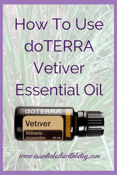 doTERRA Vetiver Essential Oil Uses