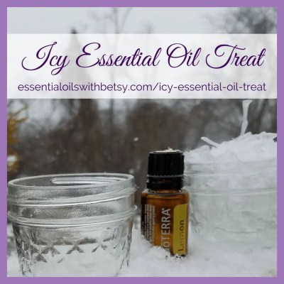 How To Make An Icy Essential Oil Treat Gather fresh clean icicles from outside. In a small glass container, drip 5-10 drops of an individual oil. Dip icicles in the oil and enjoy! For variety, set out four containers and sample each essential oil!