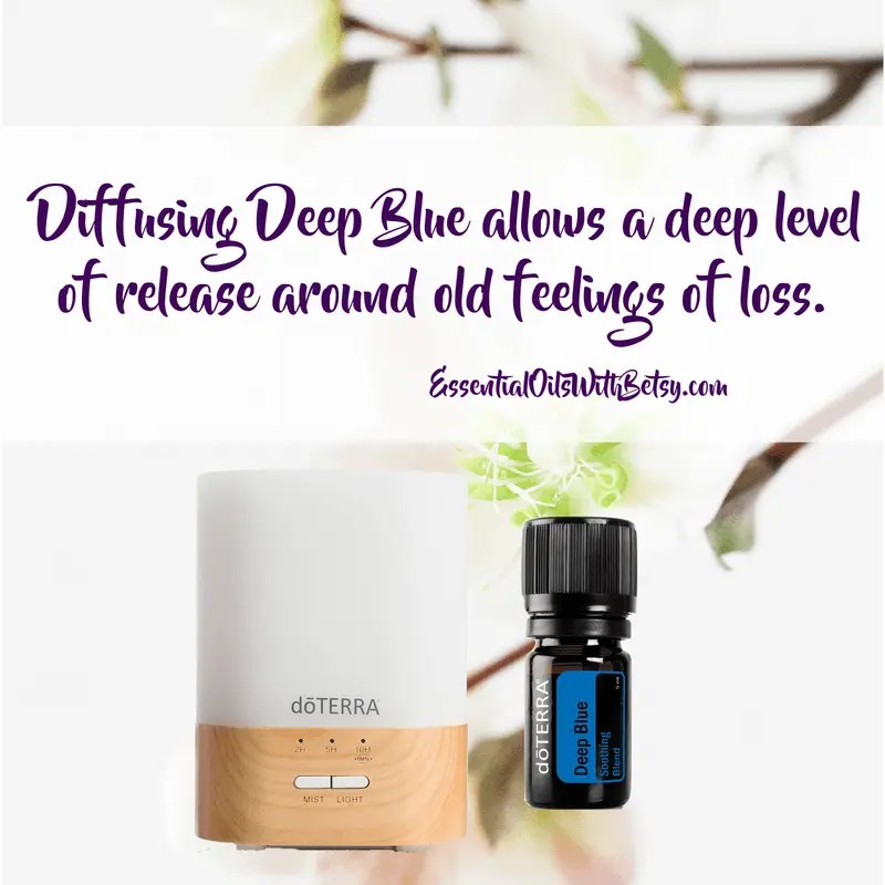 Diffusing Deep Blue allows a deep level of release around old feelings of loss.