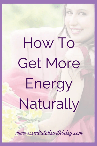 """How To Get More Energy Naturally Have you ever wondered, """"How can I get more energy naturally?"""" I'm going to share my favorite natural energy boosts with you. Natural ways to have more energy are safe and effective. Get More Energy Naturally With Essential Oils Of course, my number one way to have more energy naturally is by using doTERRA essential oils! My favorite oil combination when I need more energy is Wild Orange and Grapefruit."""