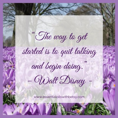 """The way to get started is to quit talking and begin doing"" - Walt Disney -"