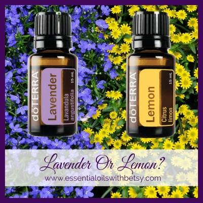 Essential Oil Facebook Group Post Ideas Lavender or Lemon (this or that)