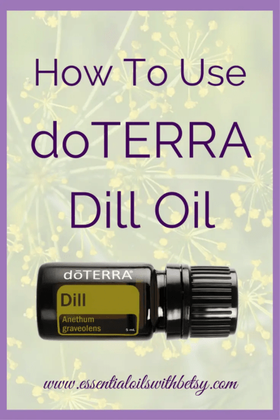 doTERRA Dill Essential Oil Uses doTERRA Dill essential oil supports a healthy digestive system. It is cleansing. The aroma helps lessen feelings of anxiousness or tension. doTERRA Dill may be used aromatically, topically, or internally. Cooking with Dill oil is a great way to take advantage of the benefits. How Do I Use Dill Oil? We love to use our doTERRA Dill oil to make homemade pickles! It's a yummy flavorful addition. My children especially love our homemade refrigerator pickles with dill! I also love to smell my Dill oil right from the bottle. The aroma is really relaxing to me! For an emotionally renewing diffuser blend, diffuse Dill oil with Bergamot and Lemon! doTERRA Suggested Uses For Dill doTERRA suggested uses and benefits of Dill oil include: Diffuse with Bergamot and Lemon to lessen stress and anxious feelings