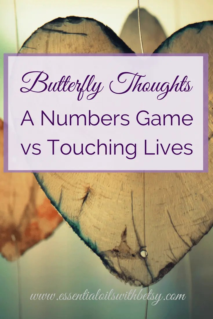 It's easy to get caught up in the numbers game. Today something made me think differently. My essential oil blog is how I reach out and touch lives.   If I have touched an individual life with my blog today,  then I had a successful day at blogging.