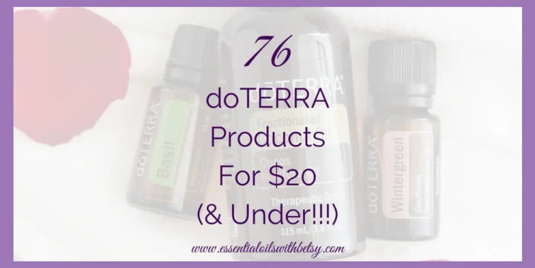 doTERRA products 20 under