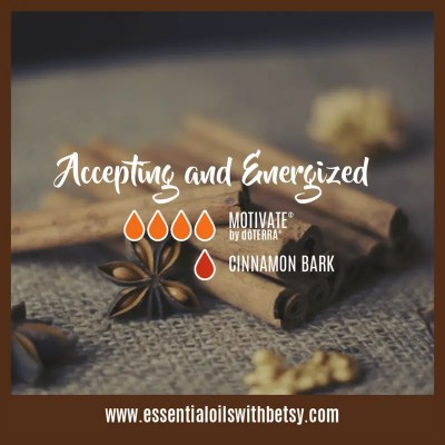 Accepting and Energized: Motivate, Cinnamon