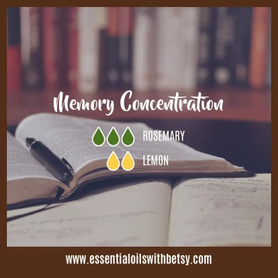 Memory Concentration Diffuser Blend of Essential Oils: Rosemary, Lemon