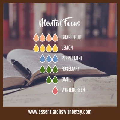 Diffuser Blend For Mental Focus: Grapefruit, Lemon, Peppermint, Rosemary, Basil, Wintergreen