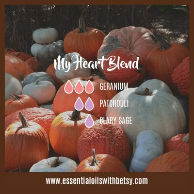 My Heart Diffuser Blend: Geranium, Patchouli, Clary Sage