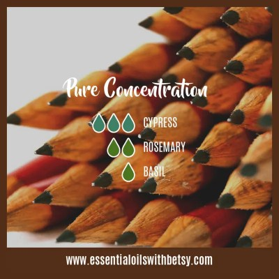 Pure Concentration Fall Diffuser Blend: Cypress, Rosemary, Basil