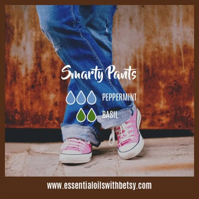 Smarty Pants Fall Oil Diffuser Blend: Peppermint, Basil