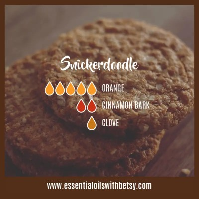 Snickerdoodle Diffuser Blend: Orange, Cinnamon, Clove