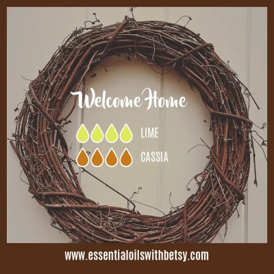Welcome Home Diffuser Blend: Lime, Cassia essential oils