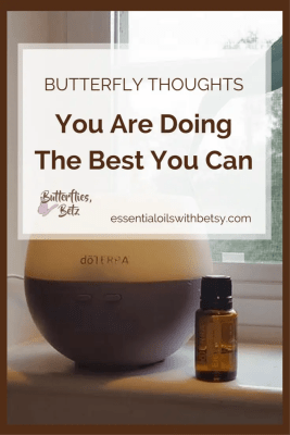 This post is a message straight from my heart to yours. Remember this if you remember nothing else. You are doing the best you can. Life is hard. My Butterfly Thoughts series is to share my own heart. How I cope with life. And how I am doing the best I can, too. #doterraoils #lavenderbutterflies #essentialoilswithbetsy