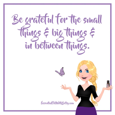 Be grateful for the small things & big things & in between things