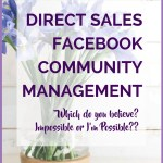 DIRECT SALES FACEBOOK COMMUNITY MANAGEMENT