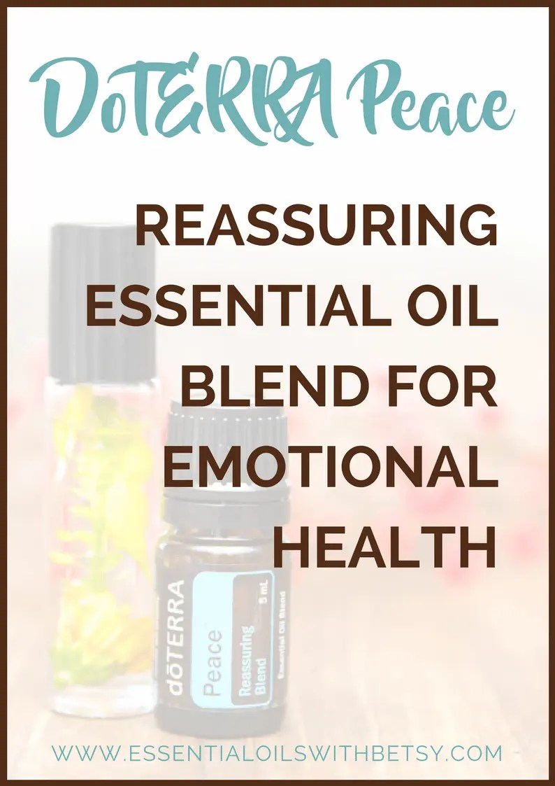 Have you ever tried doTERRA Peace (Reassuring Oil Blend)? As you might expect, Peace essential oil blend helps you feel peaceful and relaxed. This is a wonderful essential oil for emotional health. Read about doTERRA Peace oil blend here! #doterraoils #peace #essentialoilblends #oilforpeace