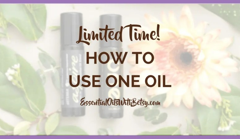 doTERRA One Blend (Limited Time Offer!)