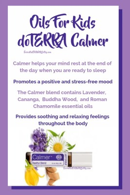 Oils for Kids - doTERRA Calmer blend | Calmer helps your mind rest at the end of the day when you are ready to sleep | Promotes a positive and stress-free mood | The Calmer blend contains Lavender,  Cananga,  Buddha Wood,  and Roman Chamomile essential oils | Provides soothing and relaxing feelings throughout the body