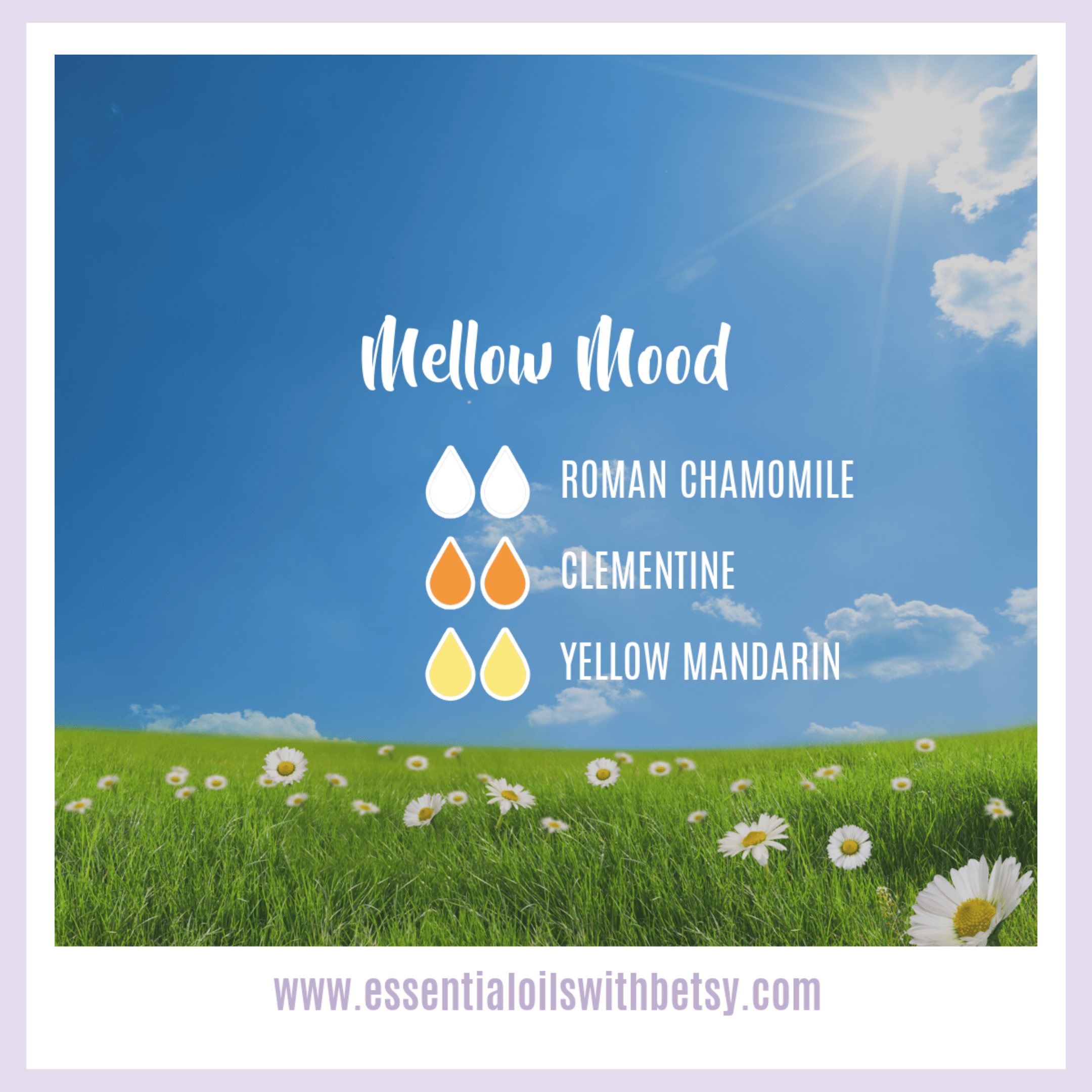 doTERRA Yellow Mandarin Mellow Mood diffuser blend