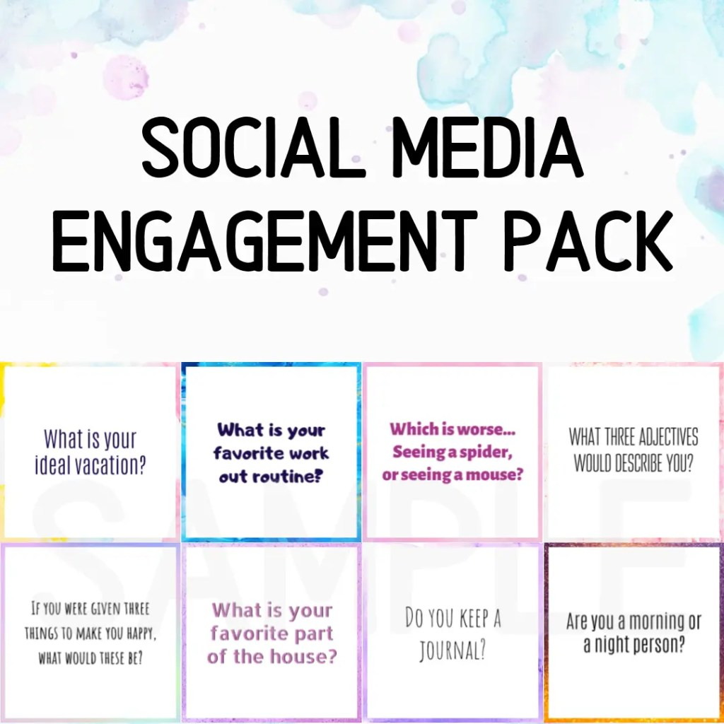 Classic Social Media Engagement Graphics Pack