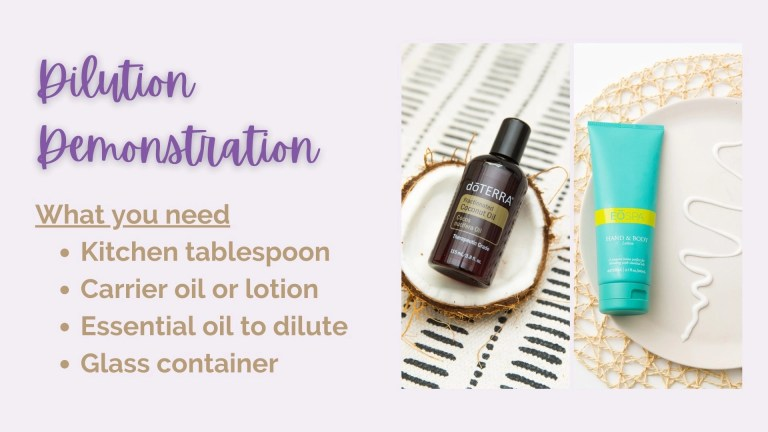 Essential Oil Dilution Demonstration