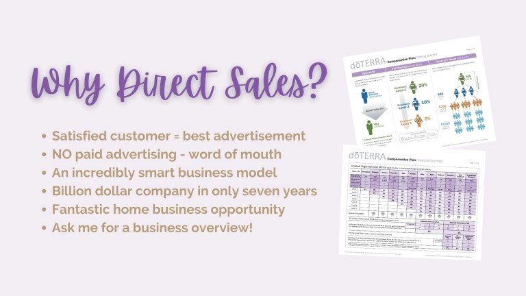doTERRA Is A Direct Sales Company