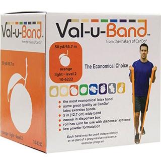 Low Powder Resistive Exercise Band, 5″x50 Yards, Orange, EACH