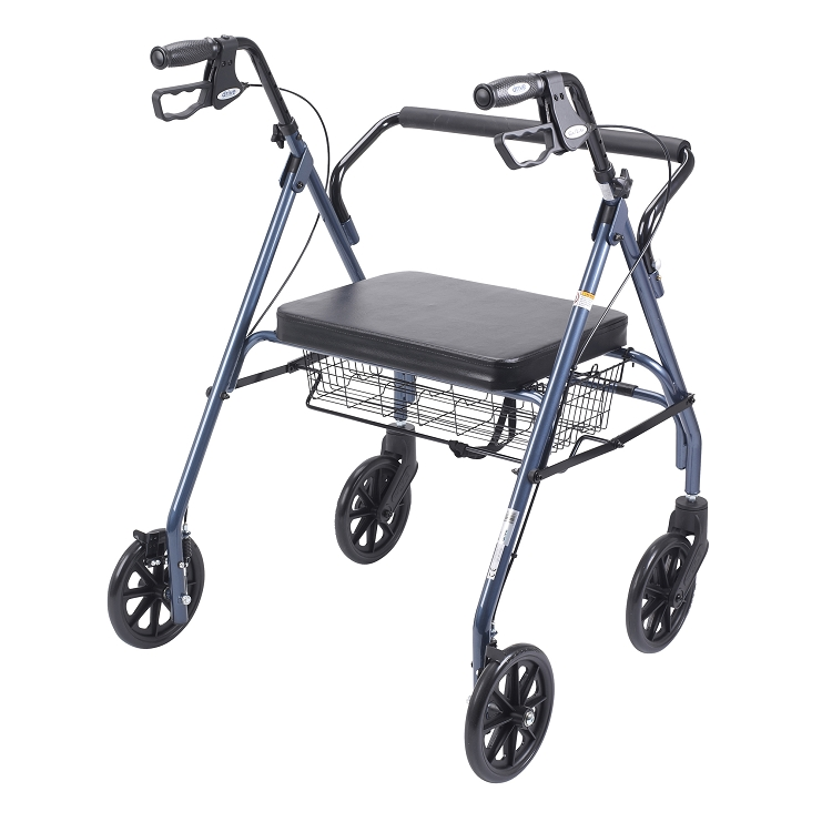 Go-Lite Bariatric 3 Wheel Rollator, Blue