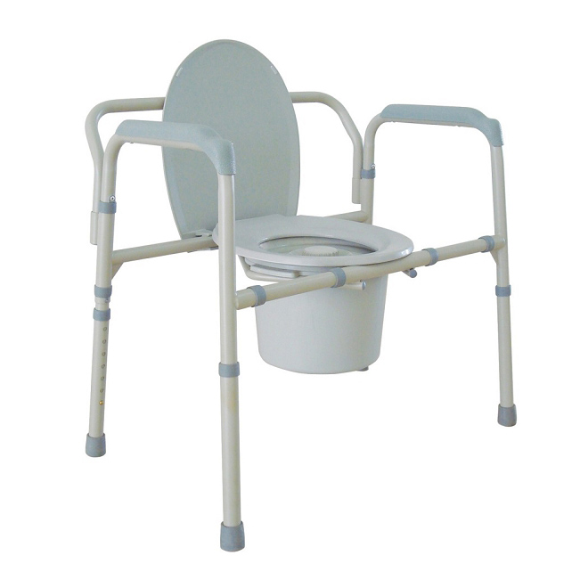 Bariatric Folding Commode  With Steel Arm Frame, CASE OF 2