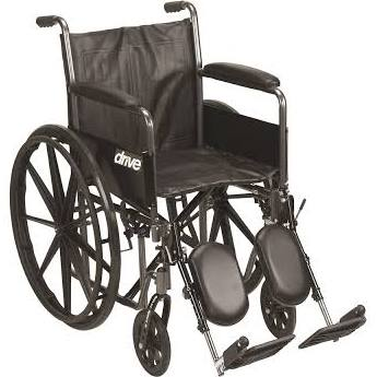 20″ Wheelchair Silver Sport 2, 250 Lbs Weight Capacity, EACH