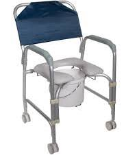 Shower Chair With Commode Aluminum With Wheels