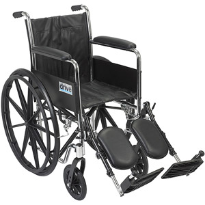 18″ Wheelchair Silver Sport 2 Dual Axle Removable Desk