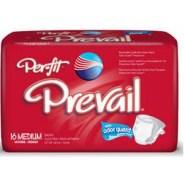 Per-Fit Prevail Adult Fitted Brief Diaper, Medium, 32-44″, CASE OF 96