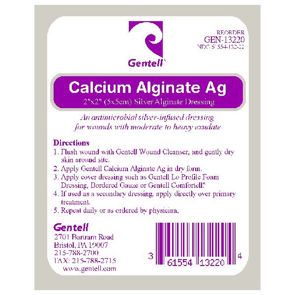 Calcium Alginate 2″x2″ Dressing With Silver, CASE OF 50