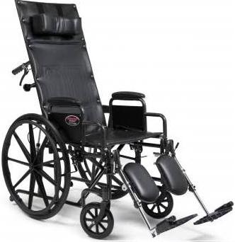 Advantage W/C Recline Wheelchair, 20″, 300 Lb Capacity