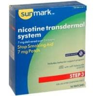 Nicotine Transdermal 24 Hour Stop Smoking Aid Patch, 7mg, BOX OF 14