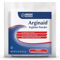 Arginine Powder Food Supplement Arginaid 9.2gm,Cherry,CASE OF 56