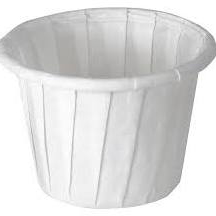 Souffle Cup, .75 Oz, White Paper, 3/4 Oz, CASE OF 5000