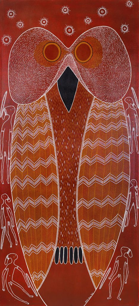 Billy Doolan Mopoke Owl, 2009 91 x 198cm, Acrylic on canvas $12,500