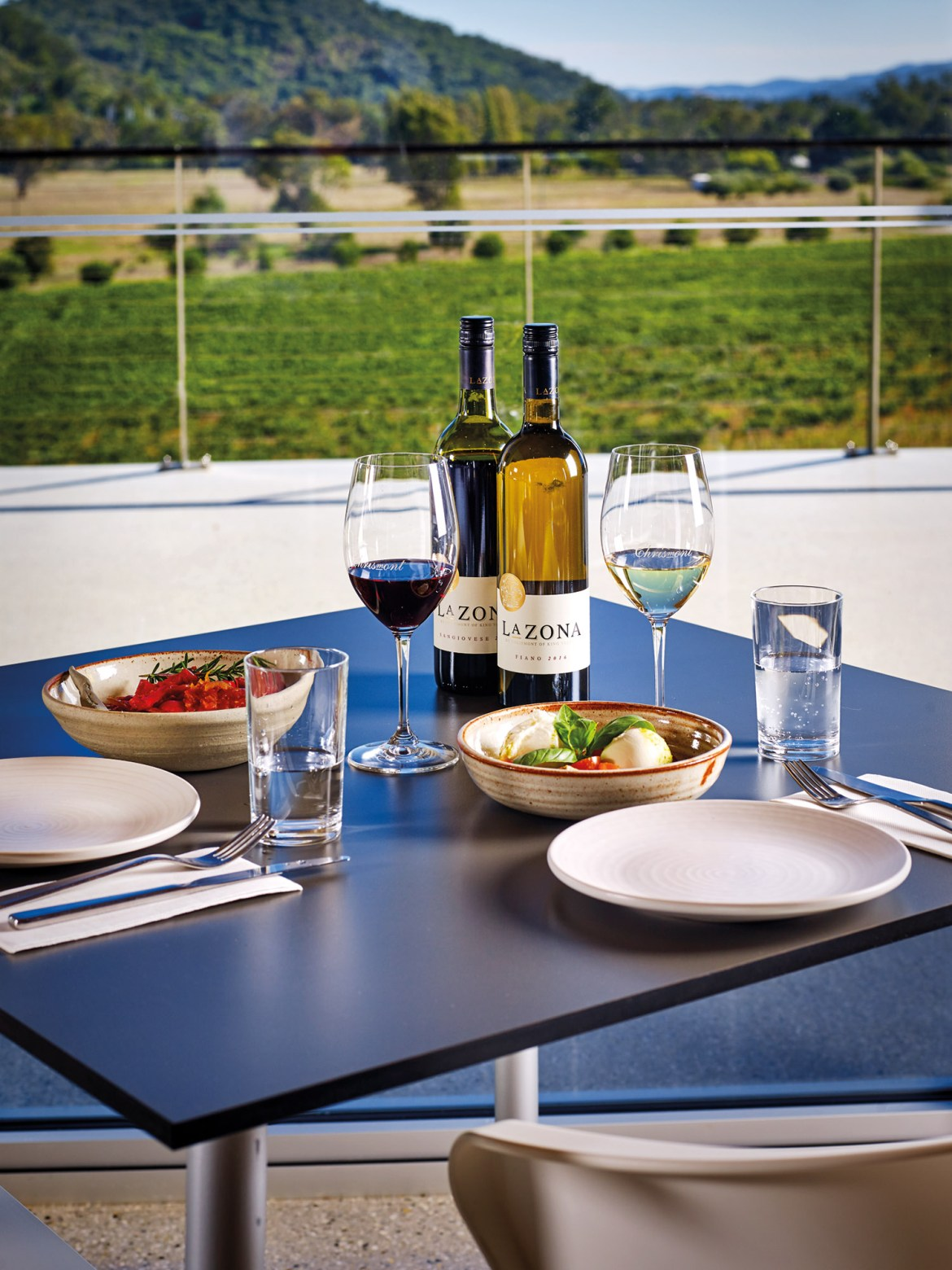 Dining at Chrismont Wines