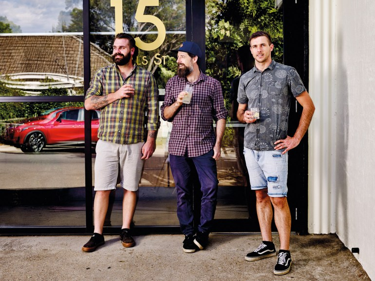 The lads from 15 Wills Street, Bright - creators of a former mechanic's workshop that has been transformed into a great new food and wine hub.