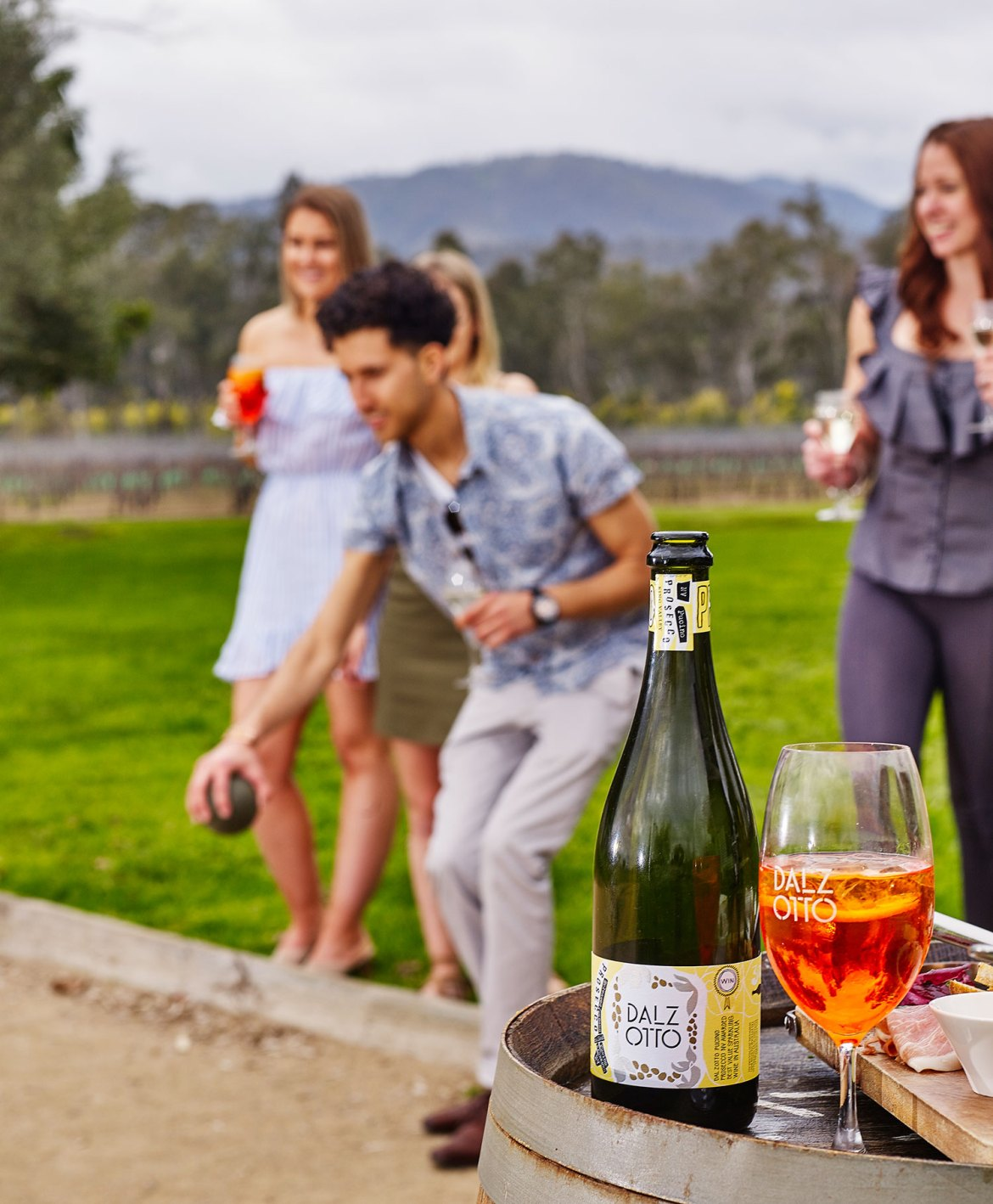 A game of bocce at Dal Zotto's King Valley cellar door