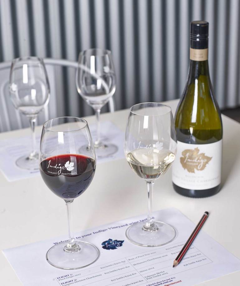 Structured tasting wine flights are recommended