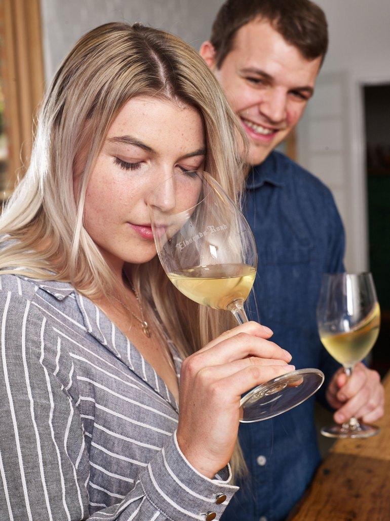Tasting wines at Eldorado Road Cellar Door