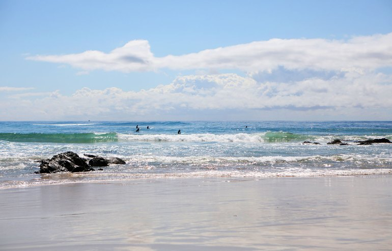 Surfers at Port Macquarie's Flynn's Bech